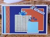 Blue and Orange Boys Present Card