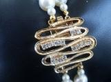 Dizzy 4 U Swarovski Pearl, Crystal & Gold Bracelet