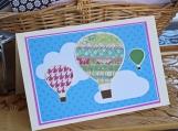 Multi-Colored Hot Air Balloon Card