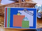 Orange, Green and Blue Boys Present Card