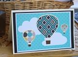 Teal Hot Air Balloon Card