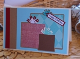 Red, Turquoise and Brown Present Card for Him