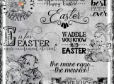 Waddle You Know It's Easter, Digi Image and Word Art Set