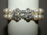 """Glitterati"" Crystal & Pearl Bracelet"