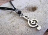 Men's Necklace - Men's Treble Clef Necklace - Mens Jewelry