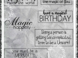 Imagination Rules the World Digi Word Art Sentiment Set