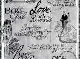 Love and Marriage Digi Word art and Image Set
