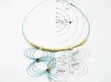 Waves and Satellites Necklace  2016 (Turquoise)