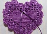 "Purple 4""X4"" Heart Sachet-'Purple Sandalwood' Fragrance-553"