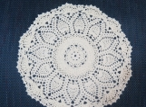 "Ivory 11"" Doily-Cotton Pineapple Hand Crochet Doily-Cindy's Loft"