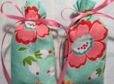 """Turquoise 3""""X2"""" Sachet-'Cranberry' Fragrance-Cindy's Loft-223"""