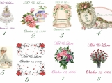 50 Wedding day soaps, choose your label, scent and text