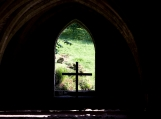 Cross in the Window, Fountains Abbey, UK, Photo Print 8' x 6'