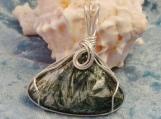Sterling Silver Wrapped Seraphenite Pendant - Origin Siberia