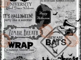 """Halloween, Party like a Monster"" Digi Image and Word Art Set"