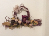 Rustic looped grapevine wreath, wreath with burlap