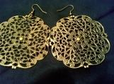 Sunburst Bronze Filigree Earrings