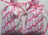 "Pink Ribbon 4""X2"" Sachet-Lily of Valley Fragrance-738"