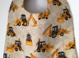 Toddler Bib: Construction Vehicles Boy Bib