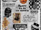 """Halloween Party"" Digi Image and Word Art Set"
