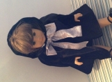 American Girl Doll Velvet Black Cape
