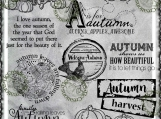 """Autumn Time Medley #1"" Digi Image and Word Art Set"