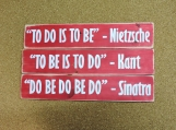 Do Be Do Be wooden distressed sign.  10.5 inches x 18
