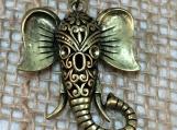 Elephant necklace,Indian style elephant,elephant pendant, elephant jewelry,boho elephant,unique elephant,animal jewlery,boho jewelry