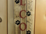 Welcome Sign.  Hand Painted.