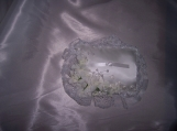 RingBearer, Pillow, weddingBride's  Pouch, Satin, Lace, Pearls,