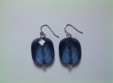 Blue Faceted Drop Earrings