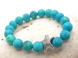 Childrens Jewelry, Beaded Bracelet with Starfish