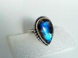 Labradorite Ring, 92.5% solid sterling silver ring,gemstone