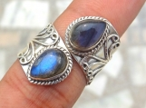 Labradorite Ring, 92.5% solid sterling silver ring,stone ring