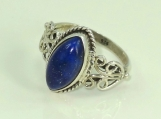 Lapis Lazuli Ring,92.5% solid sterling silver ring, silver ring