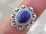 Lapis Lazuli Ring, Silver Ring, 92.5% solid Sterling Silver ring
