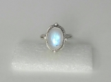 Rainbow moonstone ring,92.5% solid sterling silver ring,gemstone