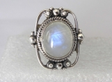 Rainbow Moonstone ring,925 Solid sterling silver ring, moonstone