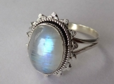 Rainbow Moonstone ring, moonstone silver ring,solid silver ring, stone ring, 92.5 sterling silver, moonstone Silver Ring Size 3 To 14(US)