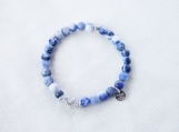 Sodalite & Argentium Silver Bracelet