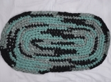 Crocheted Rag Rug - Oval #9