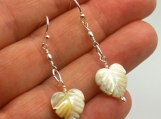 Mother of Pearl Anthurium Dangle Earrings
