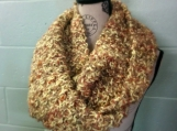 Infinity Scarf -  Knit Cowl Scarf - Knit Circle Scarf - Chunky Scarf - Loop Scarf - Mobius Scarf - Infinity Scarves Chunky Honeycomb