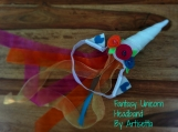 TROPICAL UNICORN Fantasy Headband w/ sheer ribbon train, rave, festival, cosplay, anime, brony, bronies, dressup, child, adult