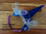 WIZARD UNICORN Fantasy Headband w/ sheer tulle train, rave, festival, cosplay, anime, brony, bronies, dressup, child, adult