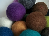 WOOL DRYER BALLS Ecofriendly Hypoallergenic - set of 4 - Handcrafted - Felted - Laundry - Home Decor - Natural - Unscented - Chemical Free