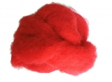 Wool Roving - RED  Dorset Wool Roving - Canadian Wool, wet felting - needle felting - wool roving - spinning - medium fiber