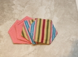 Bold Stripe Fabric Decorative Coasters