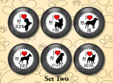 Dog Breed Set Two - 1.25 inch Love My Breed Pins