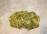 Green Hexagonal Decorative Fabric Coasters
